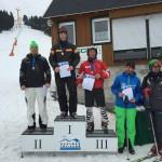 Im Slalom lief es noch besser und Jörg nahm eine Silbermedaille bei der Siegerehrung in Empfang.