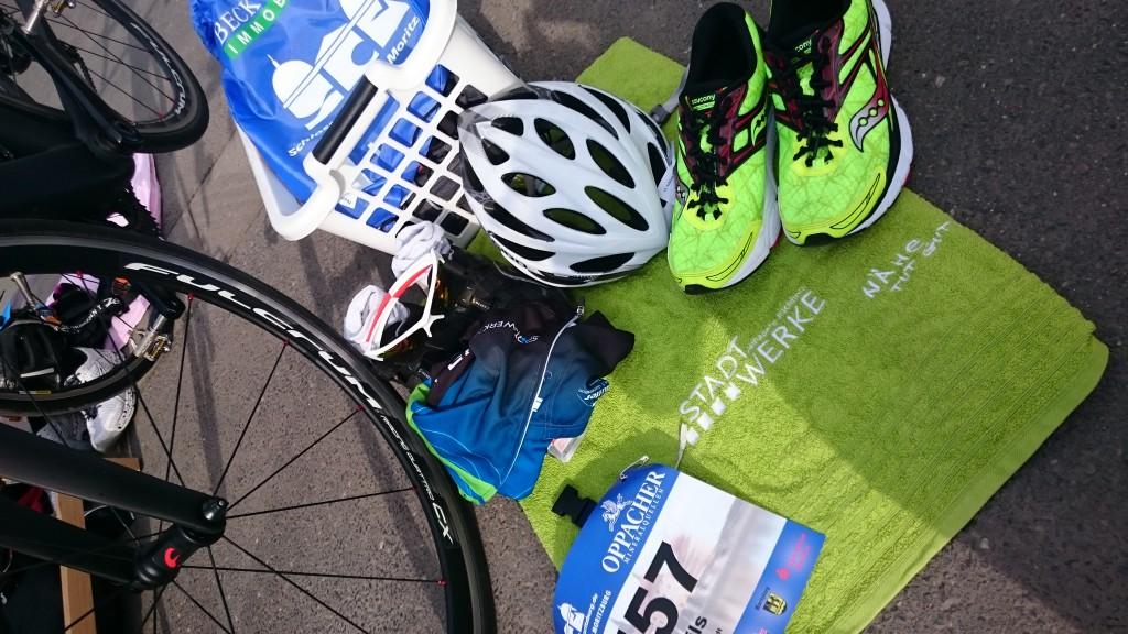 Gut vorbereitet war Nils beim Triathlon in Moritzburg…