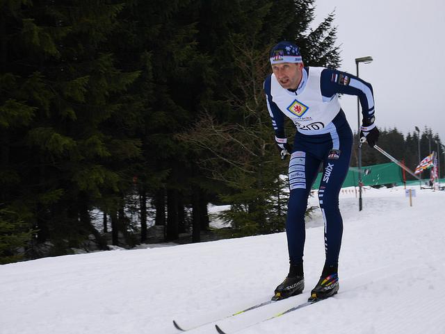 Olaf Meyer auf dem Weg zur Titel 'Deutscher Seniorenmeister' über die 10km Strecke in der klassischen Technik. Bildquelle: Steffen Helbig